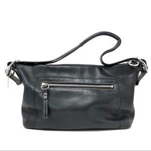 Coach 1417 Vintage Leather East West Duffel Black